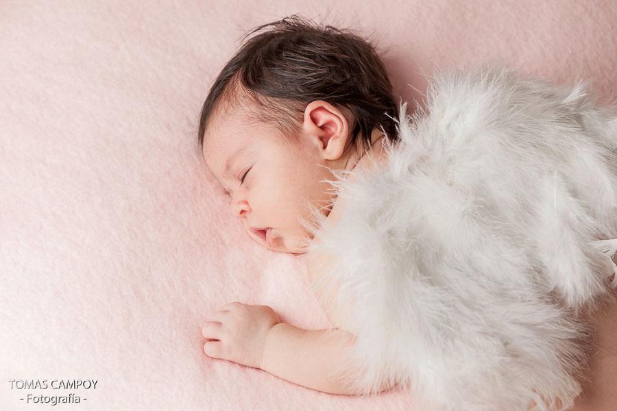 fotografía de Sarah newborn con 20 días